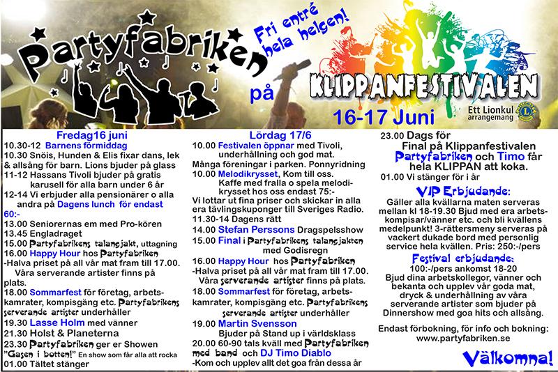 Klippanfestivalen @ Stadsparken, Klippan