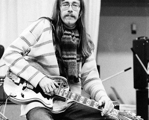 Per Åke Peps Persson i studion 1974. Foto från Mustang medias bildarkiv