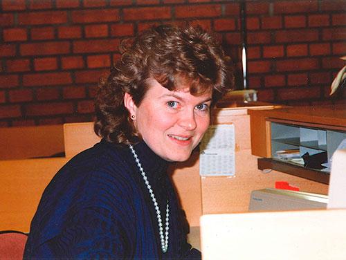 Catarina har jobbat i banken sedan 1978. Här på bild från 80-talet.
