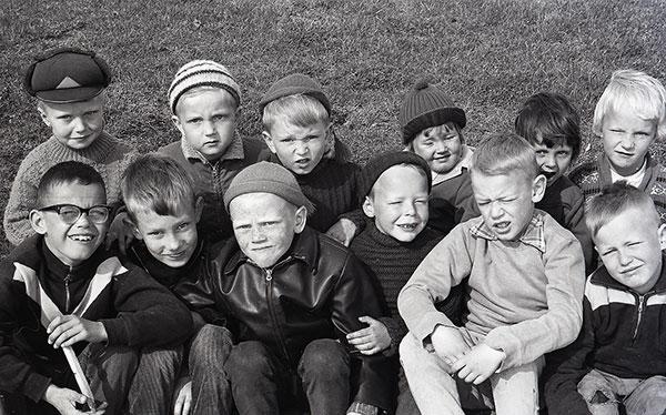 Förskoleklass.  Foto: Egon Rangbo (1958)